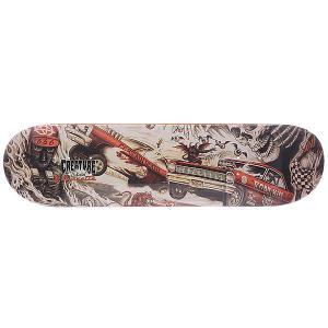 Дека для скейтборда  Gravette Strait To Hell Multi 31.7 x 8.26 (21 см) Creature. Цвет: оранжевый,черный