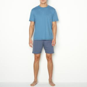 Пижама с шортами La Redoute Collections. Цвет: синий/ темно-синий