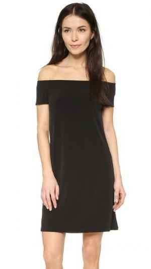 Платье Lele с открытыми плечами Velvet. Цвет: голубой