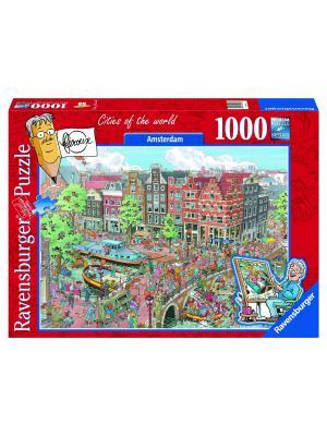 Пазл Амстердам1000 шт Ravensburger. Цвет: светло-зеленый