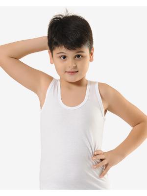 Комплект маек для мальчиков 3 шт Oztas kids' underwear. Цвет: серо-голубой, белый, серый