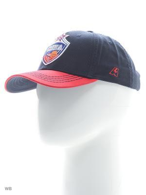 Бейсболка ПБК ЦСКА Atributika & Club. Цвет: синий, красный