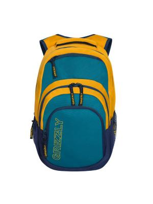 Рюкзак Grizzly. Цвет: бирюзовый, синий