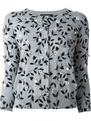 Декорированный свитер Markus Lupfer. Цвет: серый