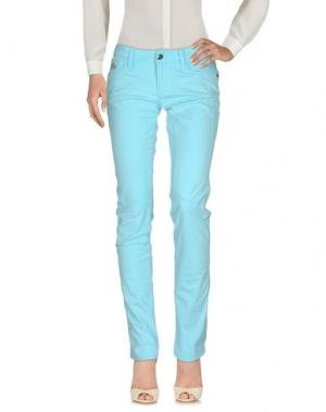 Повседневные брюки CHIRIBIRI. Цвет: небесно-голубой