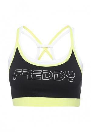 Топ спортивный Freddy. Цвет: черный