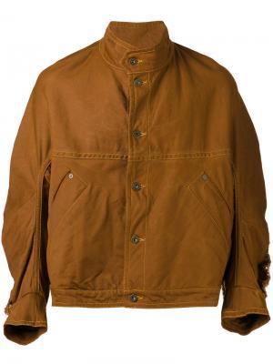Джинсовая куртка Johnny Henrik Vibskov. Цвет: коричневый
