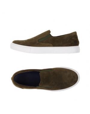 Низкие кеды и кроссовки FABIANO RICCI. Цвет: зеленый-милитари
