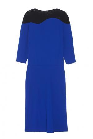 Двухцветное платье Chapurin. Цвет: синий, черный