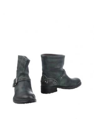 Полусапоги и высокие ботинки KEB. Цвет: темно-зеленый