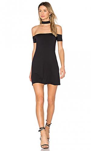 Платье с ложным воротником superior twenty. Цвет: черный
