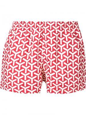 Шорты для плавания с принтом Y Timo Trunks. Цвет: красный