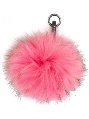 Меховой брелок N.Peal. Цвет: розовый и фиолетовый