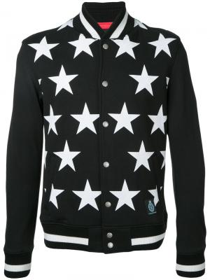 Куртка-бомбер со звездами Guild Prime. Цвет: чёрный