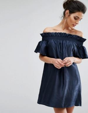 Keepsake Платье мини Sweet Life. Цвет: темно-синий