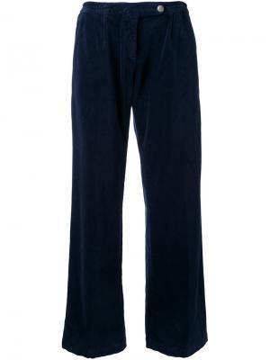 Бархатные брюки Massimo Alba. Цвет: синий