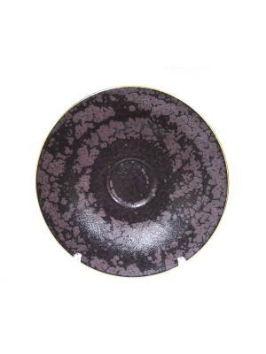 Блюдце  Romantic Velvet Elff Ceramics. Цвет: коричневый