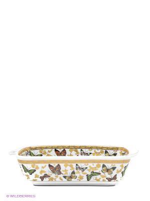 Шубница Бабочки Elan Gallery. Цвет: белый, коричневый, золотистый