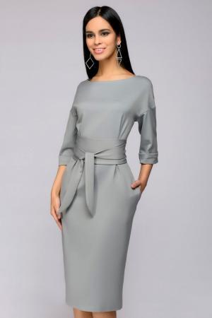 Платье 1001dress. Цвет: светло-серый