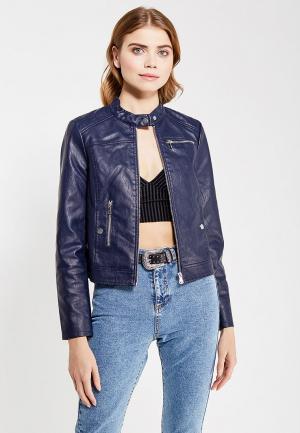 Куртка кожаная Vero Moda. Цвет: синий