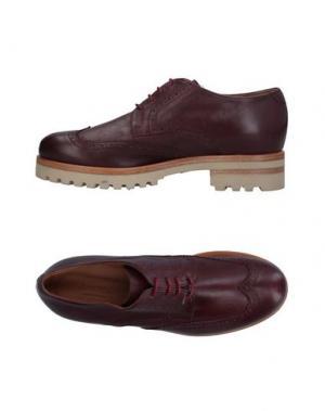 Обувь на шнурках ANGEL. Цвет: красно-коричневый