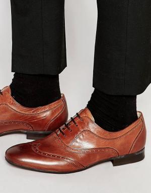 Hudson London Кожаные броги Francis. Цвет: коричневый