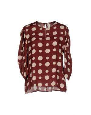 Блузка SOUVENIR. Цвет: красно-коричневый