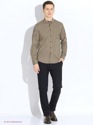 Рубашка MERC. Цвет: темно-зеленый