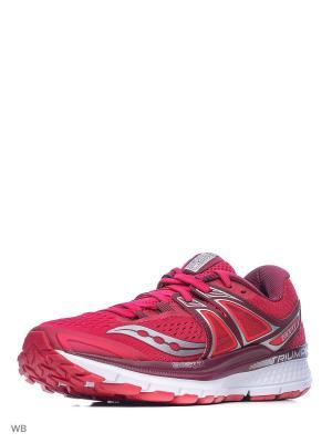 Кроссовки Saucony. Цвет: розовый, бордовый, серебристый