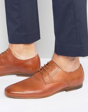 Zign Кожаные туфли на шнуровке. Цвет: рыжий