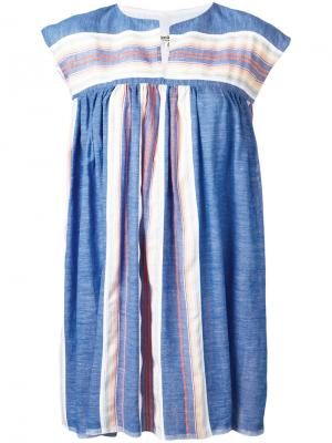Платье-туника в полоску Lemlem. Цвет: синий