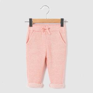 Брюки спортивные La Redoute Collections. Цвет: розовый меланж