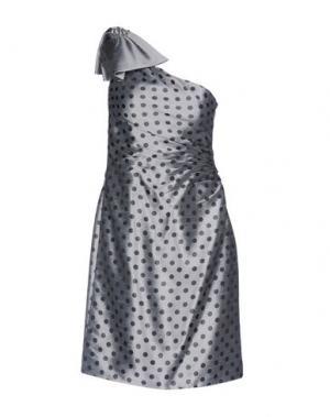 Короткое платье LEXUS. Цвет: светло-серый