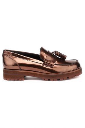 Туфли закрытые Pertini. Цвет: карамельный