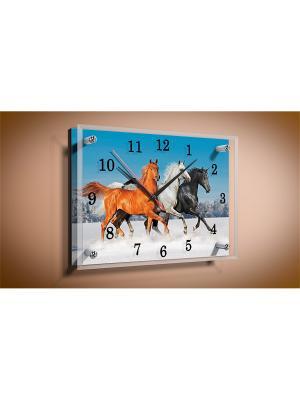 Настенные часы Тройка PROFFI. Цвет: белый, голубой, рыжий, серый, черный