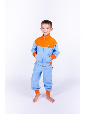 Толстовка ЛисФлис. Цвет: голубой, оранжевый