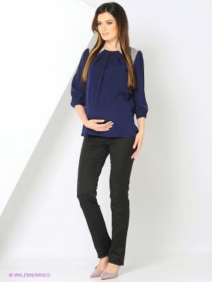 Блуза UNIOSTAR. Цвет: темно-синий