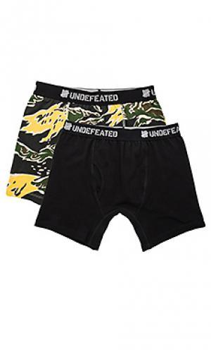 2 pack boxer shorts Undefeated. Цвет: черный