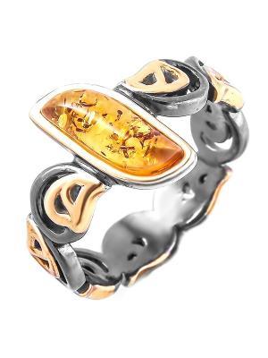 Кольцо Балтийское золото. Цвет: бронзовый, золотистый, оранжевый, рыжий, светло-оранжевый