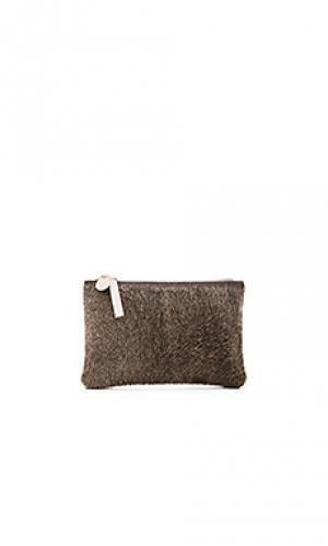 Клатч-кошелек supreme Clare V.. Цвет: серый