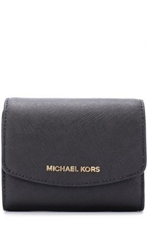 Кожаный кошелек с клапаном и логотипом бренда MICHAEL Kors. Цвет: черный
