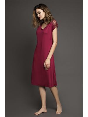 Ночная сорочка Laete. Цвет: бордовый