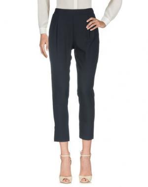 Повседневные брюки SOALLURE. Цвет: темно-синий