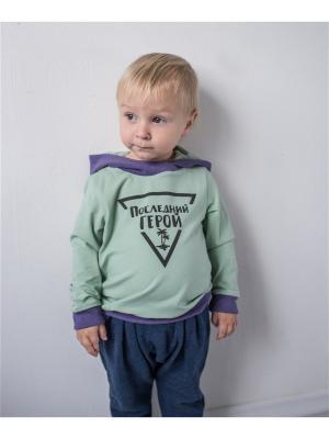 Худи TRENDYCO Kids. Цвет: оливковый, фиолетовый