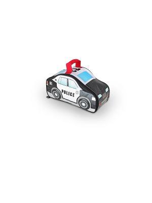 Детская сумка-термос Police Car Novelty Thermos. Цвет: черный, голубой, белый
