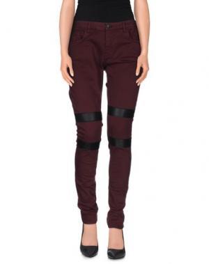 Повседневные брюки LOT 78. Цвет: баклажанный