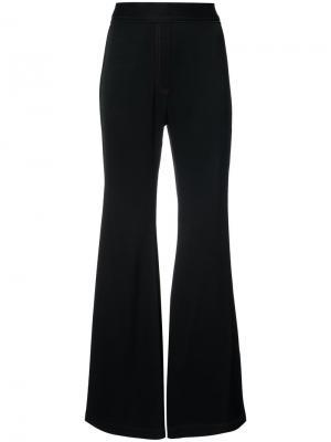 Расклешенные брюки с высокой талией Ellery. Цвет: чёрный