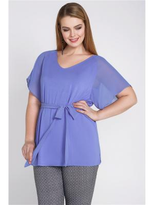 Блузка-топ Bestiadonna. Цвет: синий