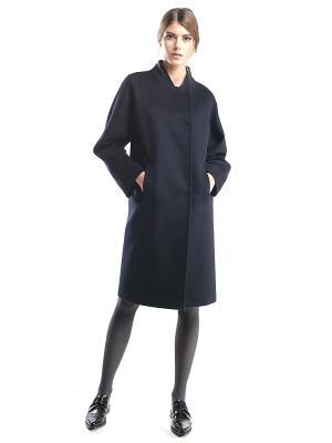 Пальто Pompa. Цвет: темно-синий