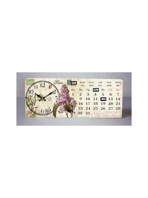 Часы настольные Сирень Magic Home. Цвет: сиреневый